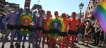 Colourful participants at Frankfurt Gay Pride