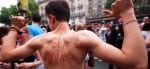 Hot guys at Paris Gay Pride Parade