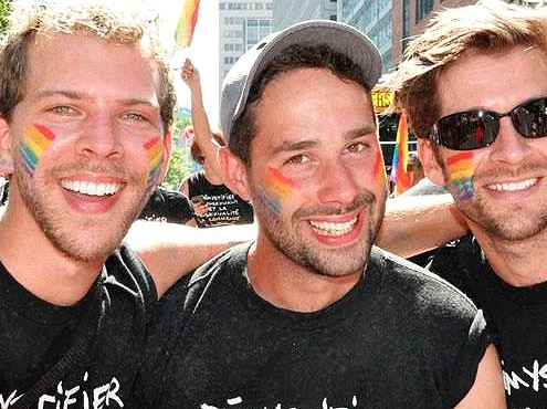 Montreal Pride Parade partygoers