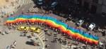 Prague Gay Pride - Gay Flag in parade
