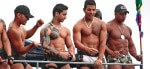 Dancing on the floats at Rio Gay Pride