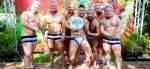 Fiesta de la piscina del oso bangkok