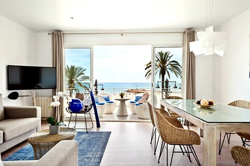 Beachfront Apartment in Sitges
