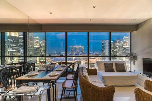Marina Bay Apartment in Singapore