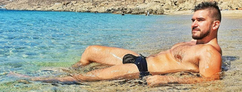 Beach fun in Gay Mykonos at Elia Beach