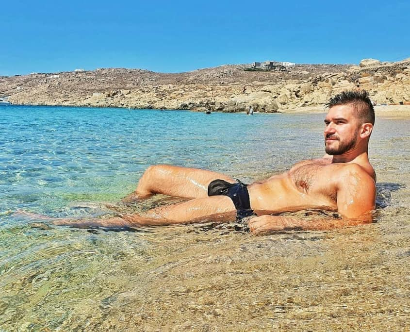 Beach fun in Gay Mykonos at Elia Beach